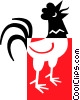 Vector Clipart picture  of a rooster