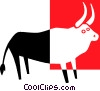 bull Vector Clipart graphic