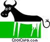 Vector Clip Art picture  of a cow