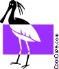 Vector Clipart picture  of a stork