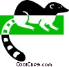 Vector Clip Art graphic  of a Lemur