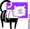 cat Vector Clipart illustration