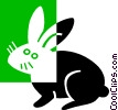 Vector Clipart picture  of a rabbit