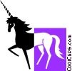 Vector Clipart image  of a unicorn
