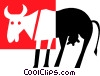 cow Vector Clipart illustration