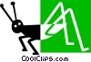 Vector Clip Art graphic  of a grasshopper