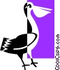 Vector Clipart illustration  of a pelican