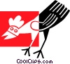 Vector Clip Art graphic  of a Chicken
