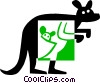 Vector Clip Art graphic  of a kangaroo