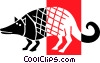 Vector Clipart graphic  of an Armadillos