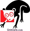Vector Clip Art image  of a Monkey
