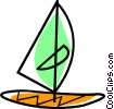 Vector Clipart graphic  of a windsurfer