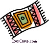 Vector Clip Art graphic  of a rug