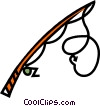 fishing rod Vector Clipart illustration