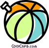 Vector Clip Art picture  of a beach ball