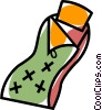 Vector Clip Art graphic  of a sleeping bag