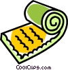 sleeping bag Vector Clip Art image