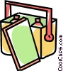 Vector Clip Art picture  of a cooler