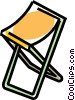 Vector Clipart graphic  of a folding stool