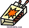 Vector Clipart image  of a matches