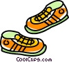 Vector Clip Art graphic  of a running shoes