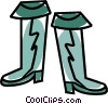 Vector Clip Art picture  of a rain boots
