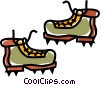 Vector Clipart graphic  of a mountain boots