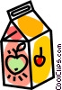 Vector Clipart image  of an apple juice
