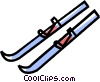 skis Vector Clipart picture