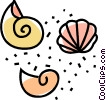 Vector Clipart illustration  of a seashells