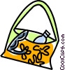 beach bag Vector Clip Art picture