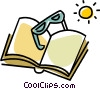 Vector Clipart graphic  of a Book and glasses