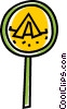 Vector Clip Art image  of a camping sign