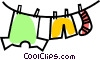 clothes line Vector Clipart picture