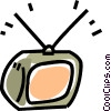 Vector Clipart picture  of a TV