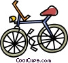 Vector Clipart image  of a bicycle