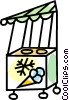 Vector Clip Art graphic  of a ice cream cart
