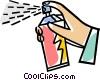 Vector Clipart graphic  of an aerosol can
