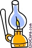 oil lamp Vector Clip Art graphic