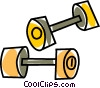 Vector Clip Art image  of a weights