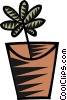 Vector Clip Art image  of a house plants