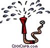 Vector Clip Art image  of a garden hose