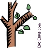tree branch Vector Clipart illustration