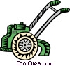 Vector Clip Art graphic  of a tiller