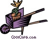 Vector Clip Art graphic  of a wheelbarrow