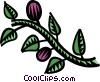 Vector Clipart graphic  of a grapevine