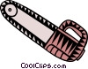 Vector Clipart graphic  of a chainsaw