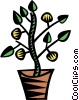 Vector Clip Art graphic  of a house plants