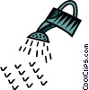 Vector Clip Art graphic  of a watering can