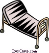 hospital bed/stretcher Vector Clipart illustration
